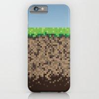 iPhone & iPod Case featuring Minecraft Block by Scott - GameRiot