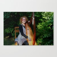 The Harp Player Canvas Print