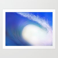 Splash Wave Art Print