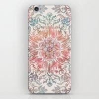 Autumn Spice Mandala in Coral, Cream and Rose iPhone & iPod Skin