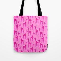 Giraffes-Pink Tote Bag