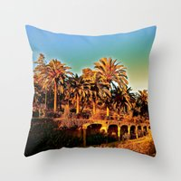 Sunny Barcelona Throw Pillow