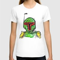 Boba Womens Fitted Tee White SMALL