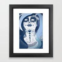 How Blue is Your Heart? Framed Art Print
