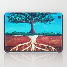 A tree only stands tall because of it's roots. iPad Case