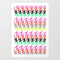 Zig Zag Stripes Art Print
