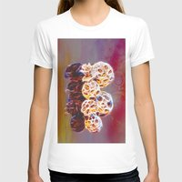 Balls And Cones  Abstrac… Womens Fitted Tee White SMALL