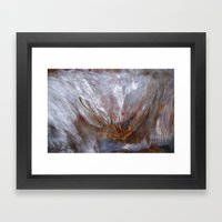 Burning leaf Framed Art Print