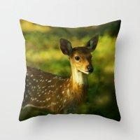 Indian Deer Throw Pillow