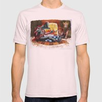 Dinner time Mens Fitted Tee Light Pink SMALL