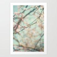 Spring #3 (cool Bleu) Art Print
