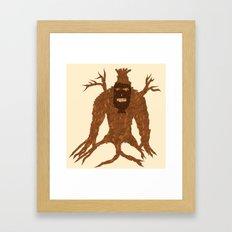 Tree Stitch Monster Framed Art Print