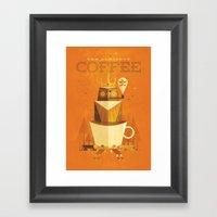 The Coffee Godess Framed Art Print