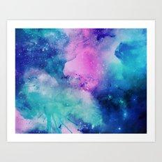 Watercolor Universe Art Print