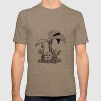 Forest Totem Mens Fitted Tee Tri-Coffee SMALL