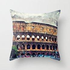 Colosseum Rome Throw Pillow