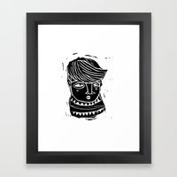 timide Framed Art Print