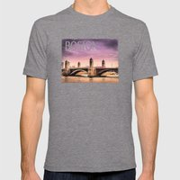 Longfellow Bridge, Bosto… Mens Fitted Tee Tri-Grey SMALL