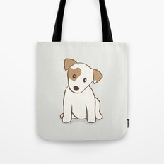 Heart spotted jack Russell Terrier Dog Tote Bag