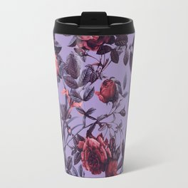 Travel Mug - Romantic Floral Pattern - Burcu Korkmazyurek