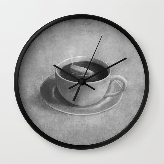 Whale in a tea cup  Wall Clock