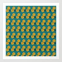 Marigold Repeat Art Print