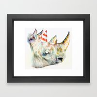 Rhino's Party Framed Art Print