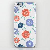 Block Print Flowers iPhone & iPod Skin