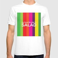 My favorite color is salad Mens Fitted Tee White SMALL