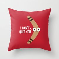 Boomerangst Throw Pillow