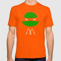 TMNT Mikey Poster Mens Fitted Tee Orange SMALL