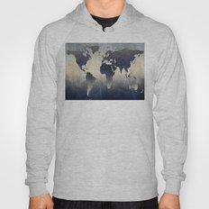 World Map Gray Hoody