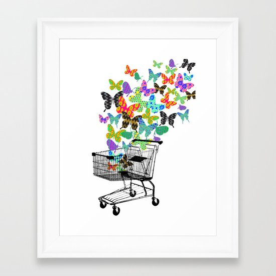 Urban Butterflies Framed Art Print
