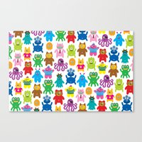 Monsters and Aliens Canvas Print
