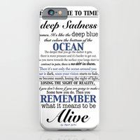 iPhone & iPod Case featuring Deep Sadness by Abigail Aguilar