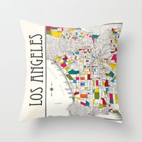 Los Angeles Streets Throw Pillow