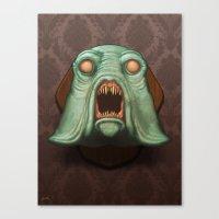 Swamp Alien Canvas Print