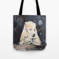Polar Bear (night hunt) Tote Bag