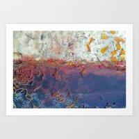 entropic floral dreams Art Print