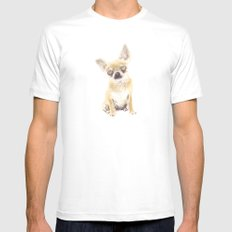 Chihuahua Mens Fitted Tee White SMALL