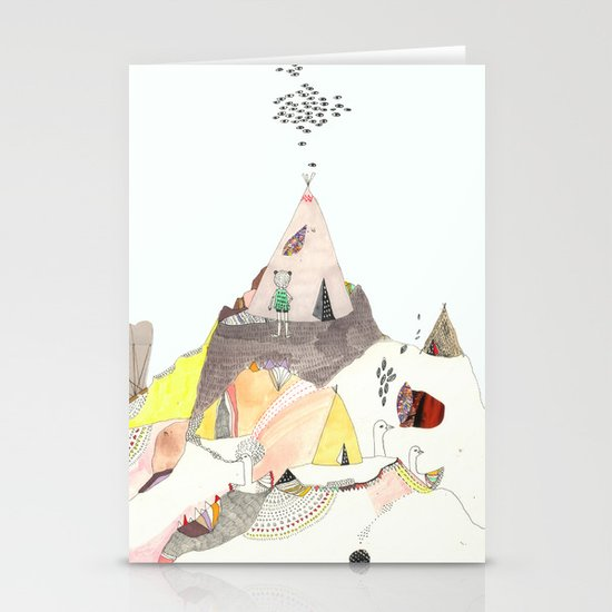 Kids Discover Magic Mountain Stationery Card