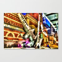 Philly Plane HDR Canvas Print
