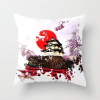 Japan Hirosaki Castle Throw Pillow