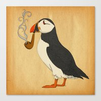 Puffin' Canvas Print