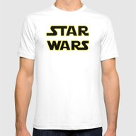 Star Logo Wars Mens Fitted Tee White SMALL