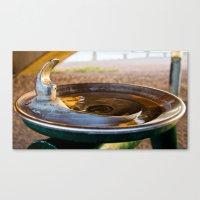 Drinking Fountain Sunset Canvas Print
