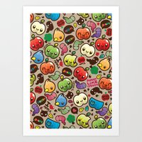 Apple Pattern Art Print