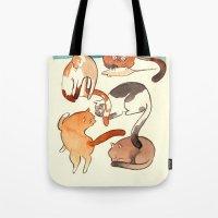kitty card Tote Bag