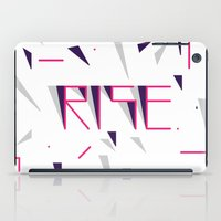 Rise No.2 - White iPad Case