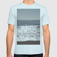 Happy Place Mens Fitted Tee Light Blue SMALL